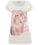 Look 1: Printed T-shirt
