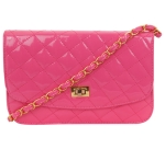 Look 1: quilted cross body purse with shoulder strap