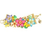 Betsey Johnson - Hawaiian Luau Flower Toggle Bracelet