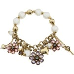 Betsey Johnson - Spring Bloom Flower Charm Half Stretch Bracelet