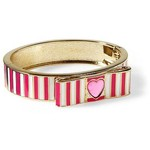 Betsey Johnson - Striped Bow Bangle Bracelet