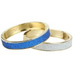 Betsey Johnson - Yacht Club Glitter Set Hinge Bangles