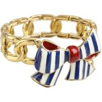 Betsey Johnson - Yacht Club Stripe Bow Stretch Bracelet