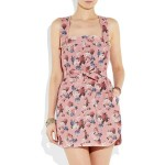 D&G Belted floral-print linen dress