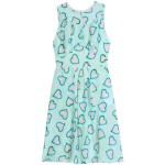 HEART PRINT SILK DRESS