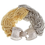 Nissa Jewelry - Silver and Gold Twist Bracelet