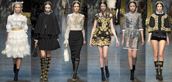 dolce-gabbana-gabanna-fall-2012-collection-brocade-trend-runway-style-brocade-boots-footwear-indian-influence-eastern-embroidery-new-york-fashion-week-2012